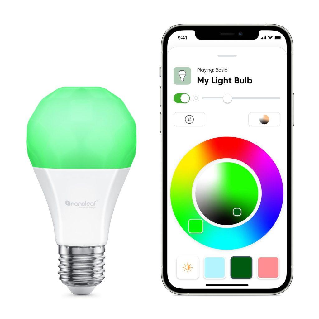 Nanoleaf Essentials E27 | A19 LED 9W 806lm Smart Bulb - 16 Million Colors