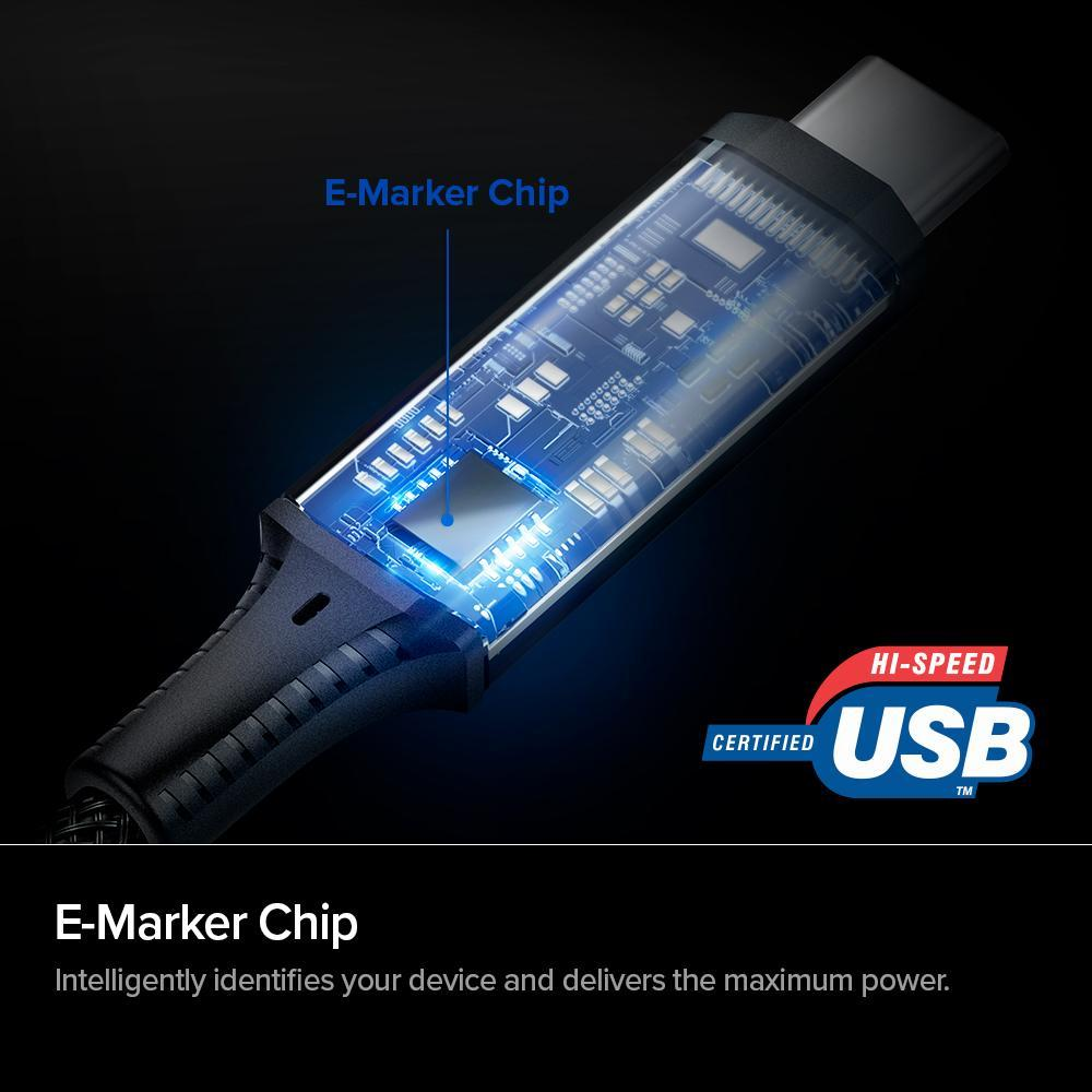 Spigen® ArcWire PB1800 PowerArc 000CB24746 USB-C 100W Power Delivery Enabled 1m Cable - Black