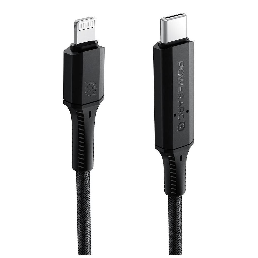 Spigen® ArcWire PB1901 PowerArc 000CA26491 USB-C to Lightning 100W Power Delivery Enabled 1m MFI Cable – Black