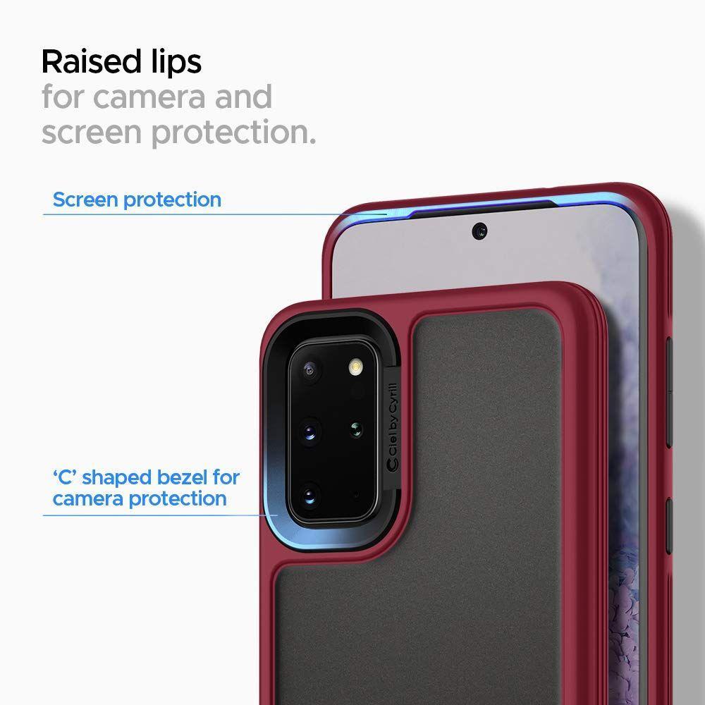 Spigen® Ciel by Cyrill Color Brick Collection ACS00803 Samsung Galaxy S20 Case – Burgundy