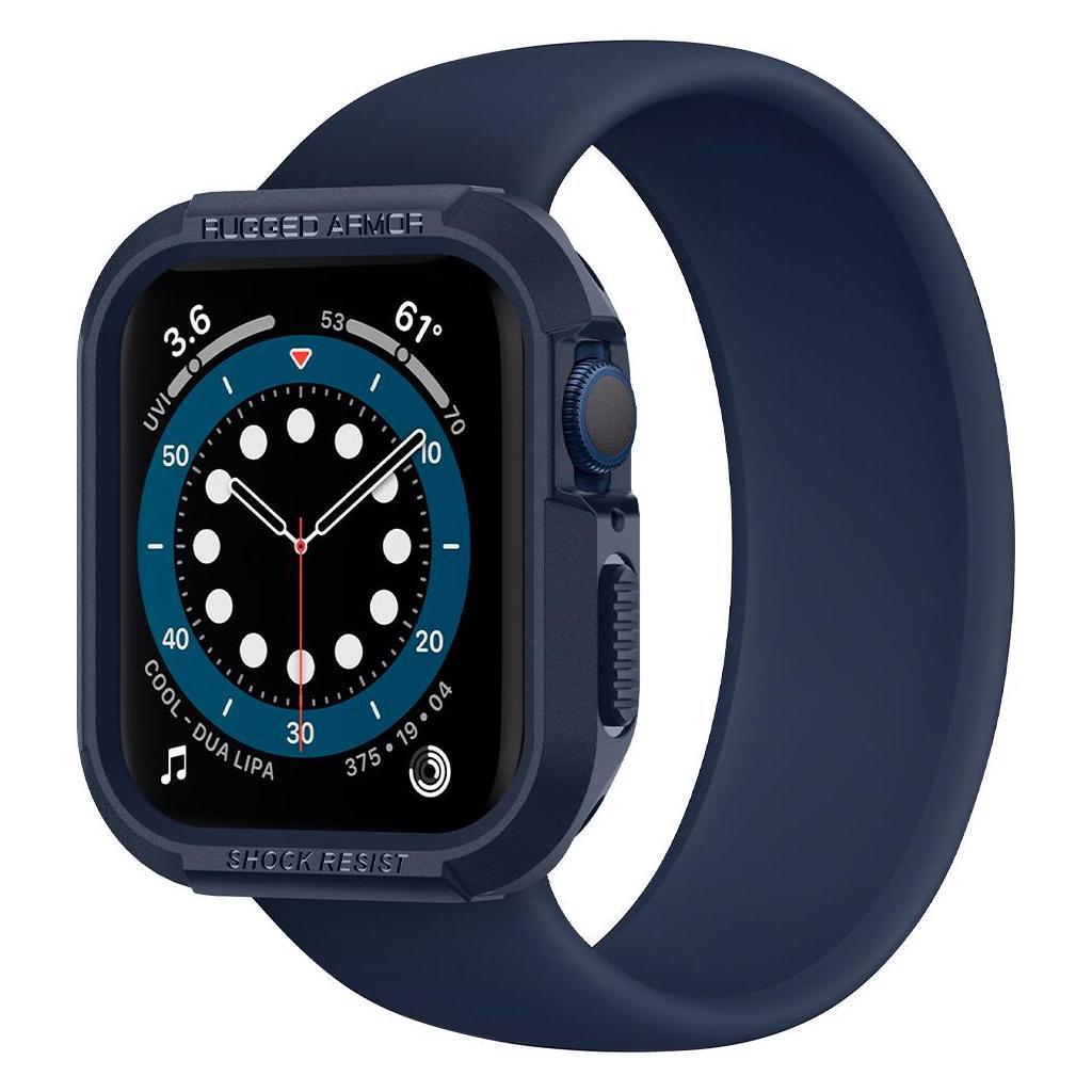 Spigen® Rugged Armor™ ACS02224 Apple Watch Series 6 / 5 / 4 / SE (44mm) Case - Navy Blue