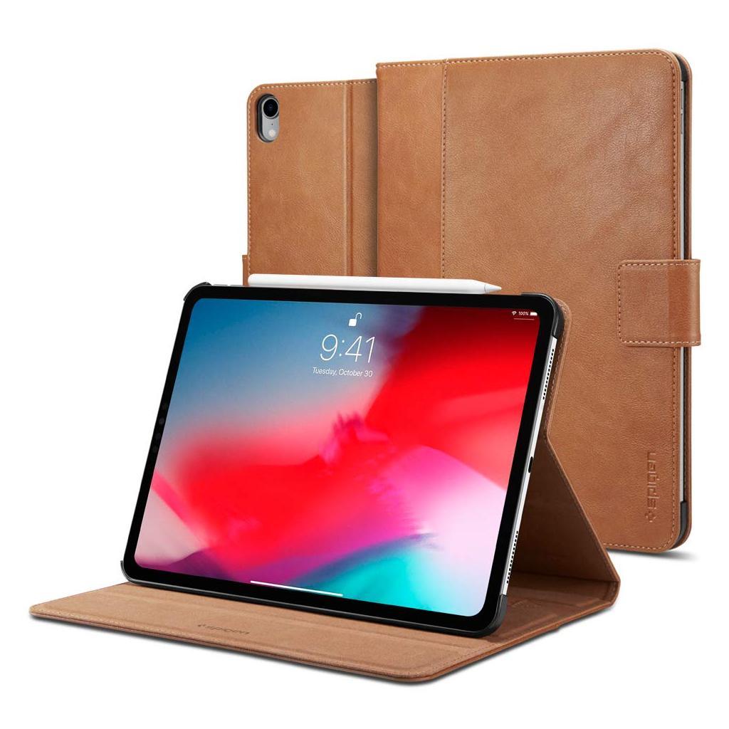 Spigen® Stand Folio 067CS25645 iPad Pro 11-inch (2018) - Brown