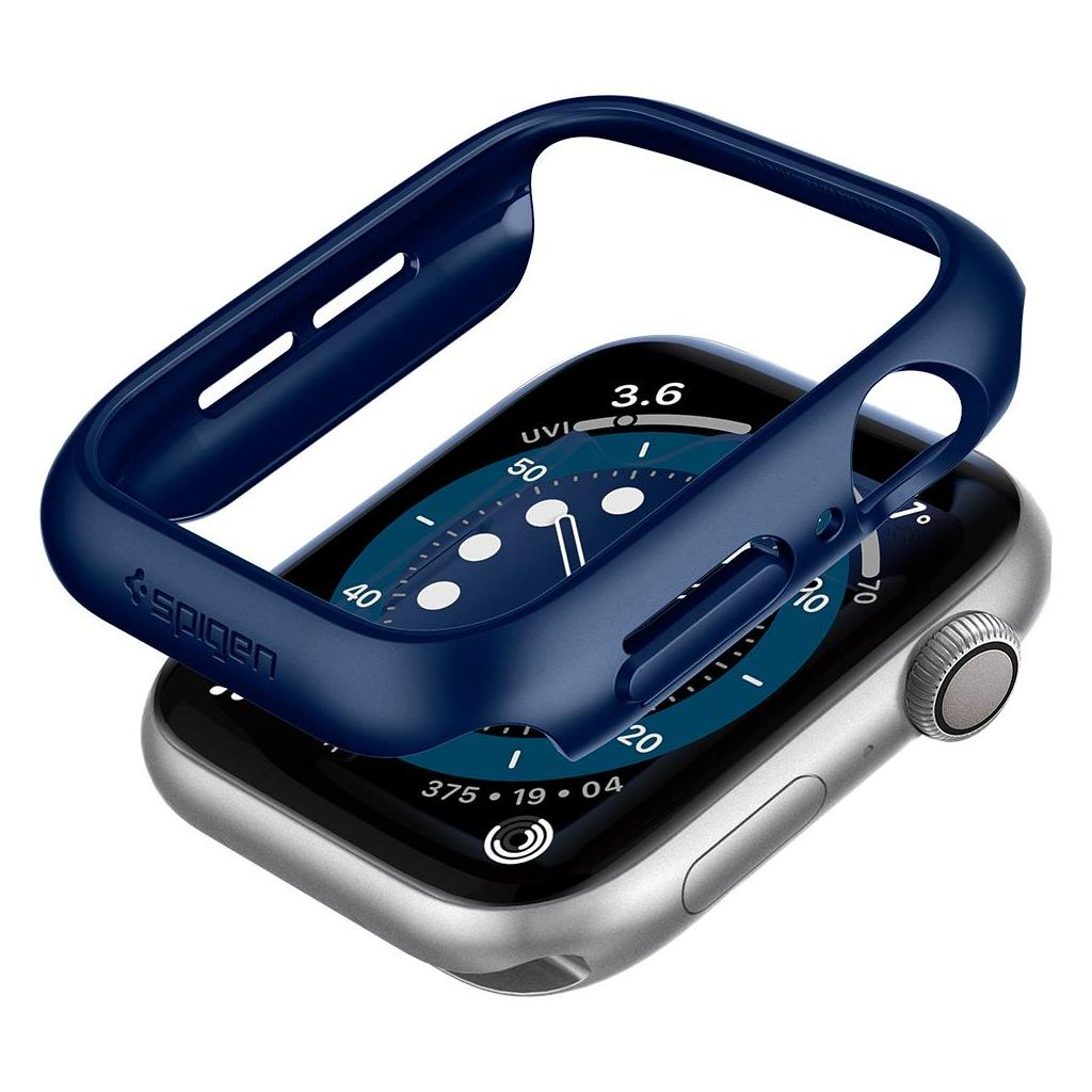 Spigen® Thin Fit™ ACS02223 Apple Watch Series 6 / 5 / 4 / SE (44mm) Case - Metallic Blue