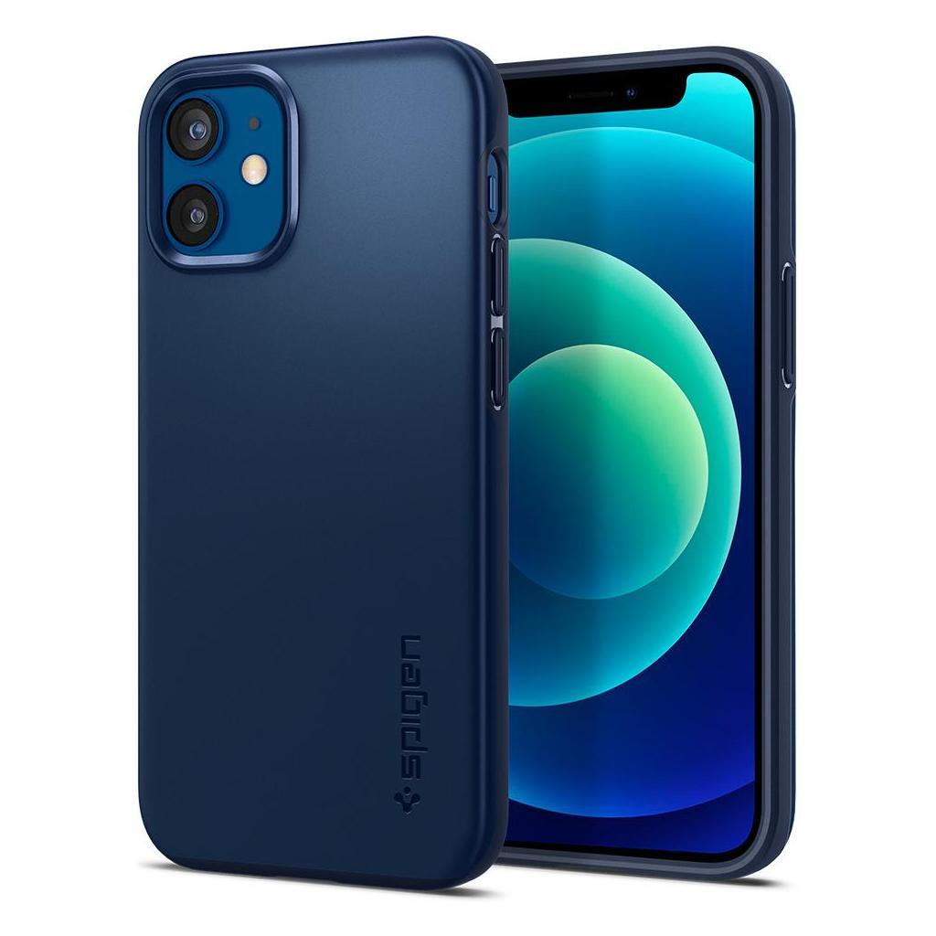 Spigen® Thin Fit™ ACS02299 iPhone 12 Mini Case - Navy Blue