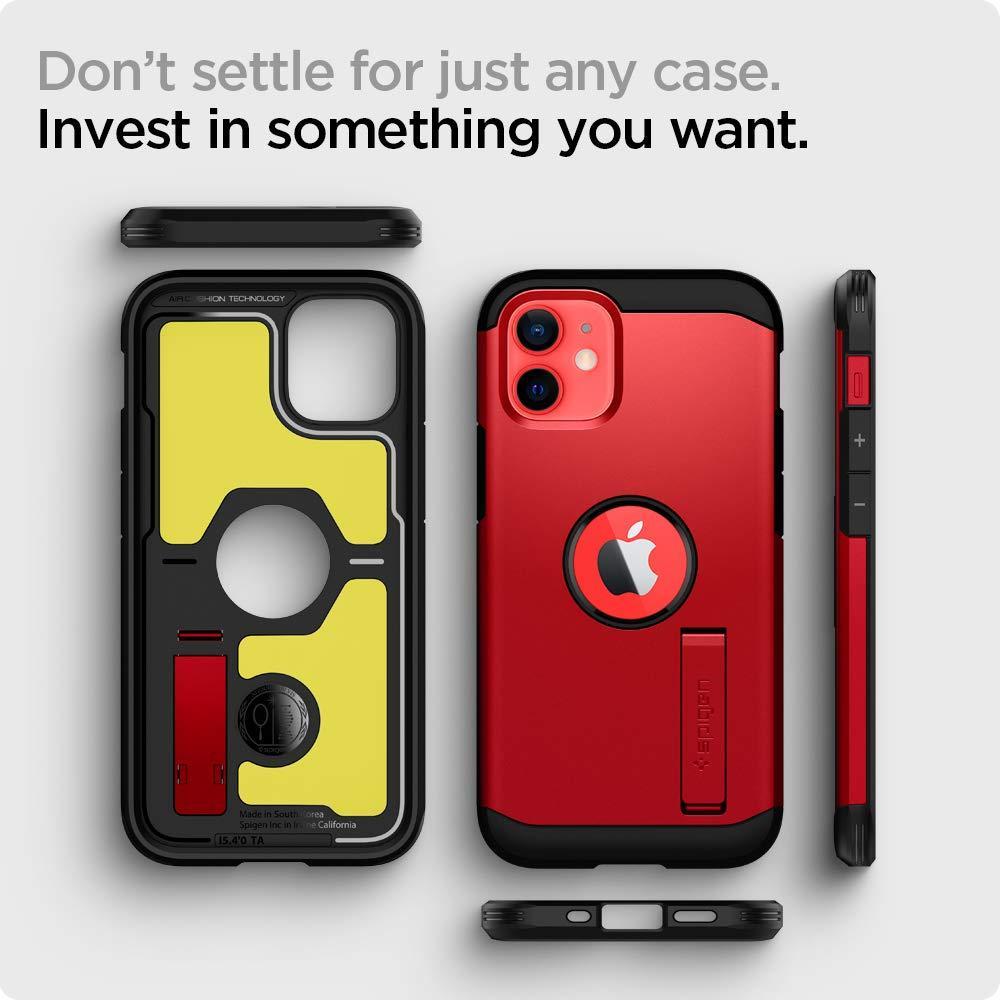 Spigen® Tough Armor™ ACS02258 iPhone 12 Mini Case - Red