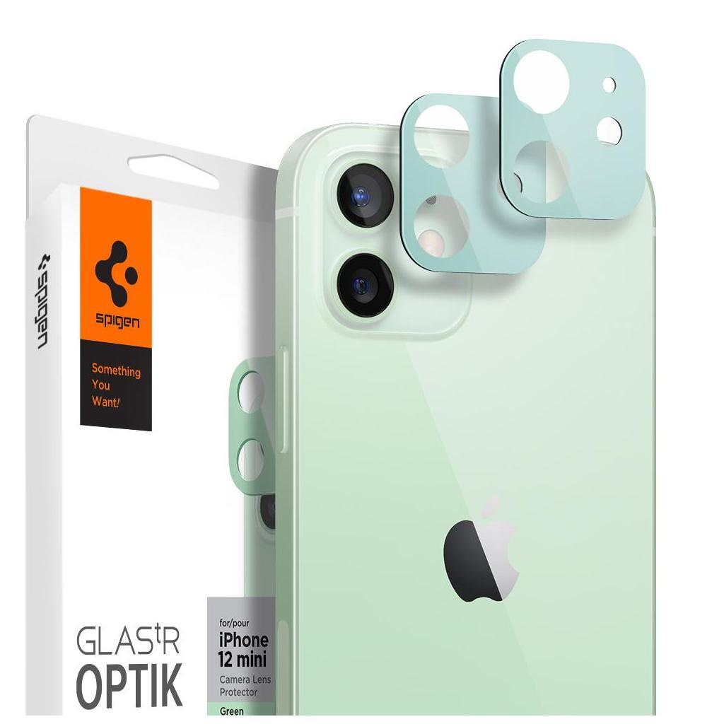 Spigen® (x2Pack) GLAS.tR™ Optik Camera Lens AGL02463 iPhone 12 Mini Premium Tempered Glass - Green
