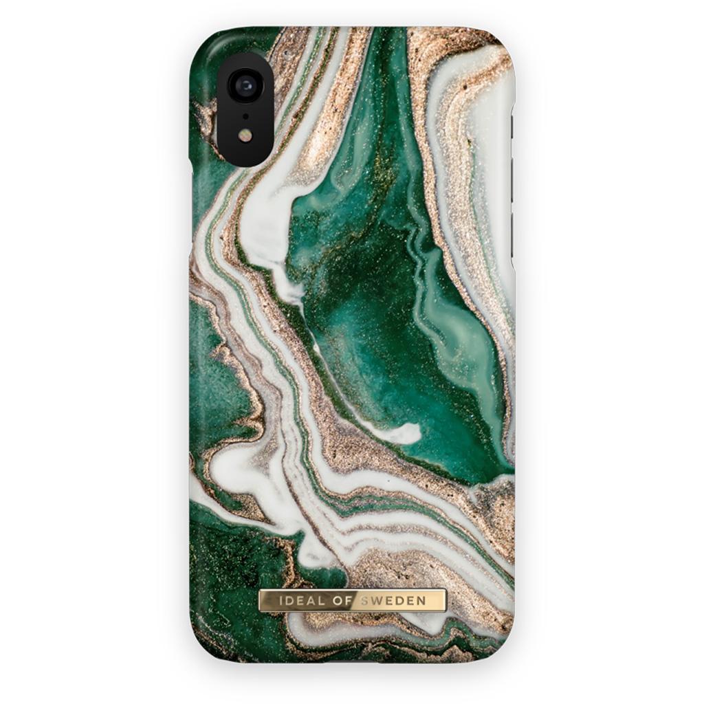 iDeal Of Sweden IDFCAW18-I1861-98 iPhone XR Case – Golden Jade Marble