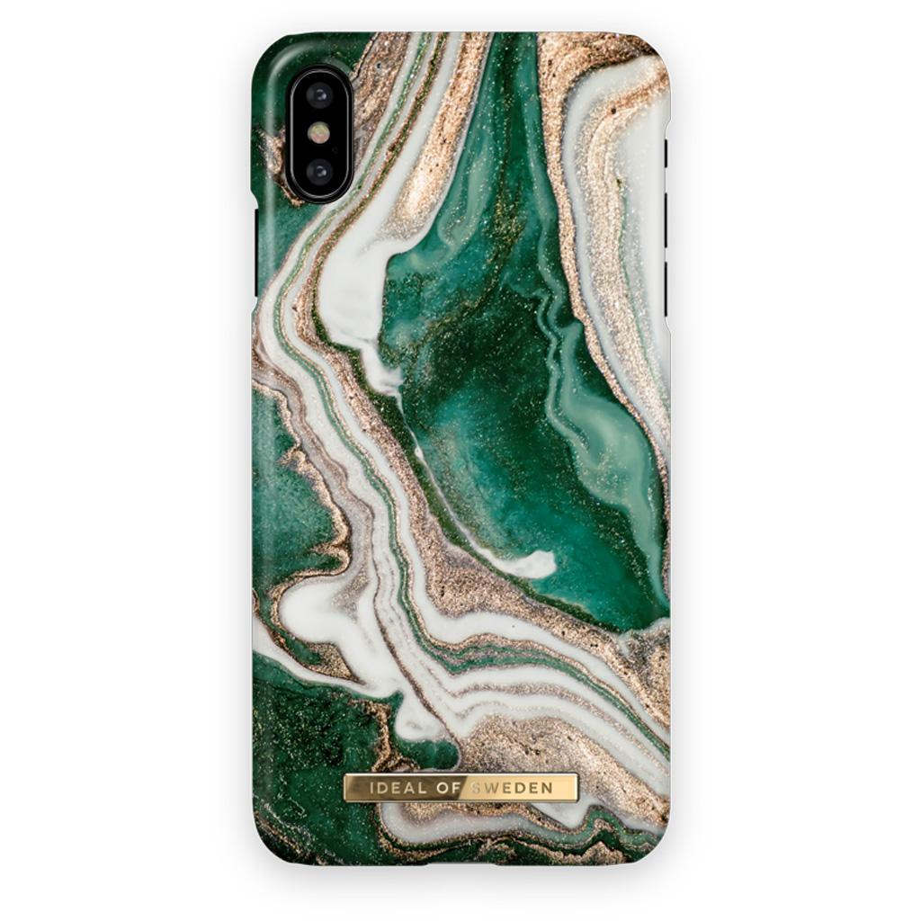 iDeal Of Sweden IDFCAW18-I8-98 iPhone XS / X Case - Golden Jade Marble