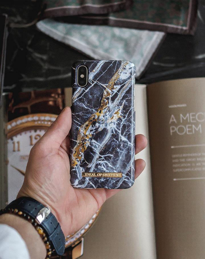 iDeal Of Sweden IDFCS17-I1865-66 iPhone XS Max Case – Midnight Blue Marble