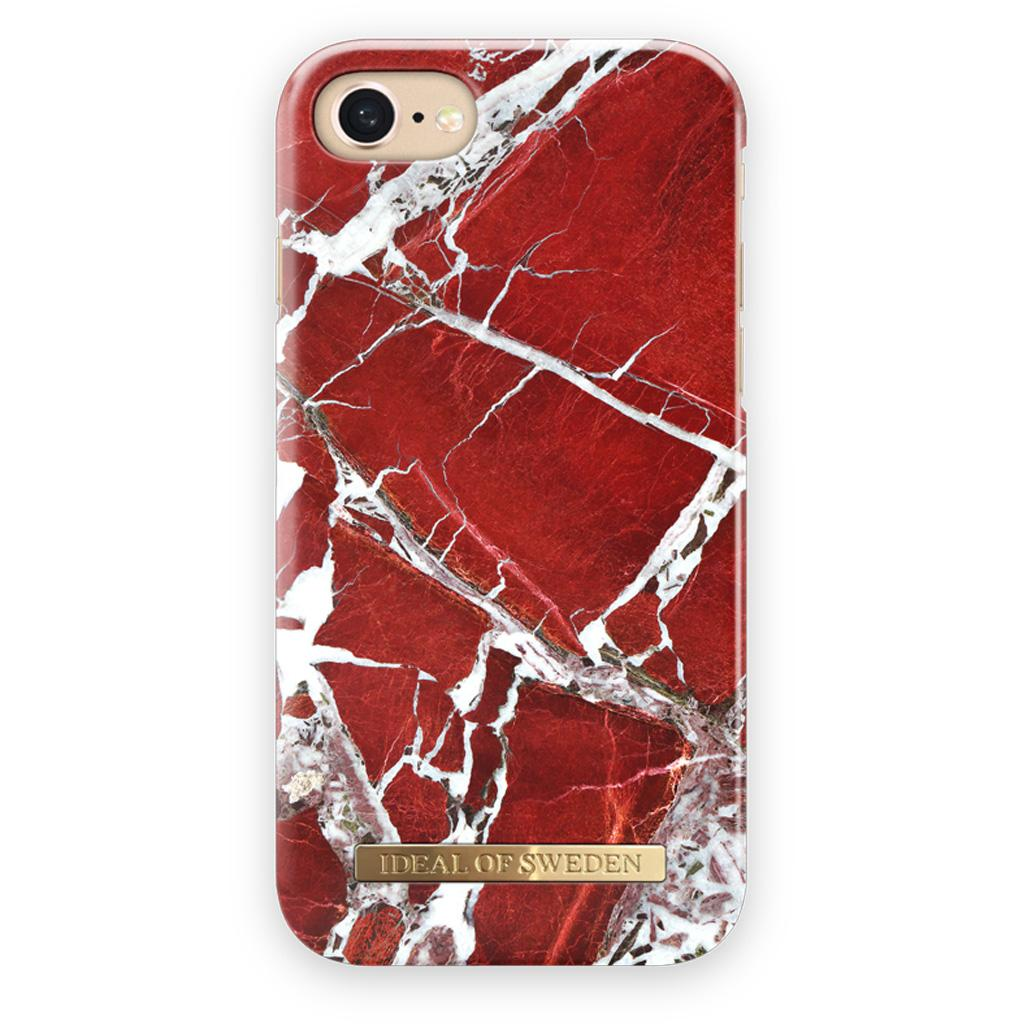 iDeal Of Sweden IDFCS18-I7-71 iPhone iPhone SE (2020) / 8 / 7 / 6s / 6 Case – Scarlet Red Marble