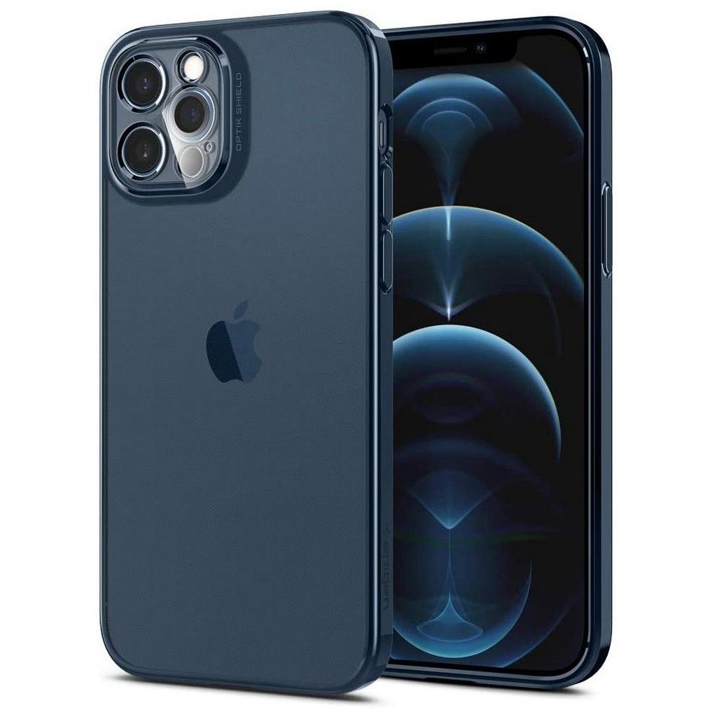 Spigen® Optik Crystal™ ACS02753 iPhone 12 Pro Case – Chrome Pacific