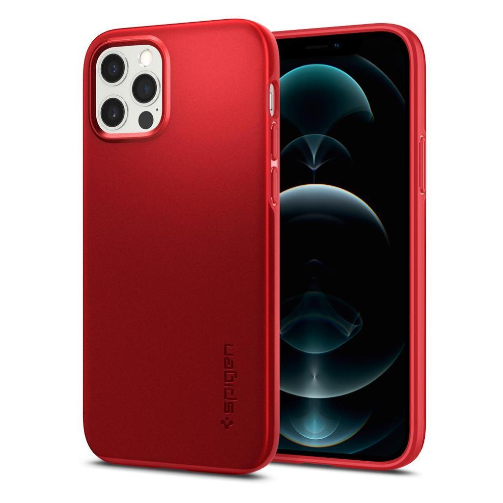 Spigen® Thin Fit™ ACS02252 iPhone 12 / iPhone 12 Pro Case - Red