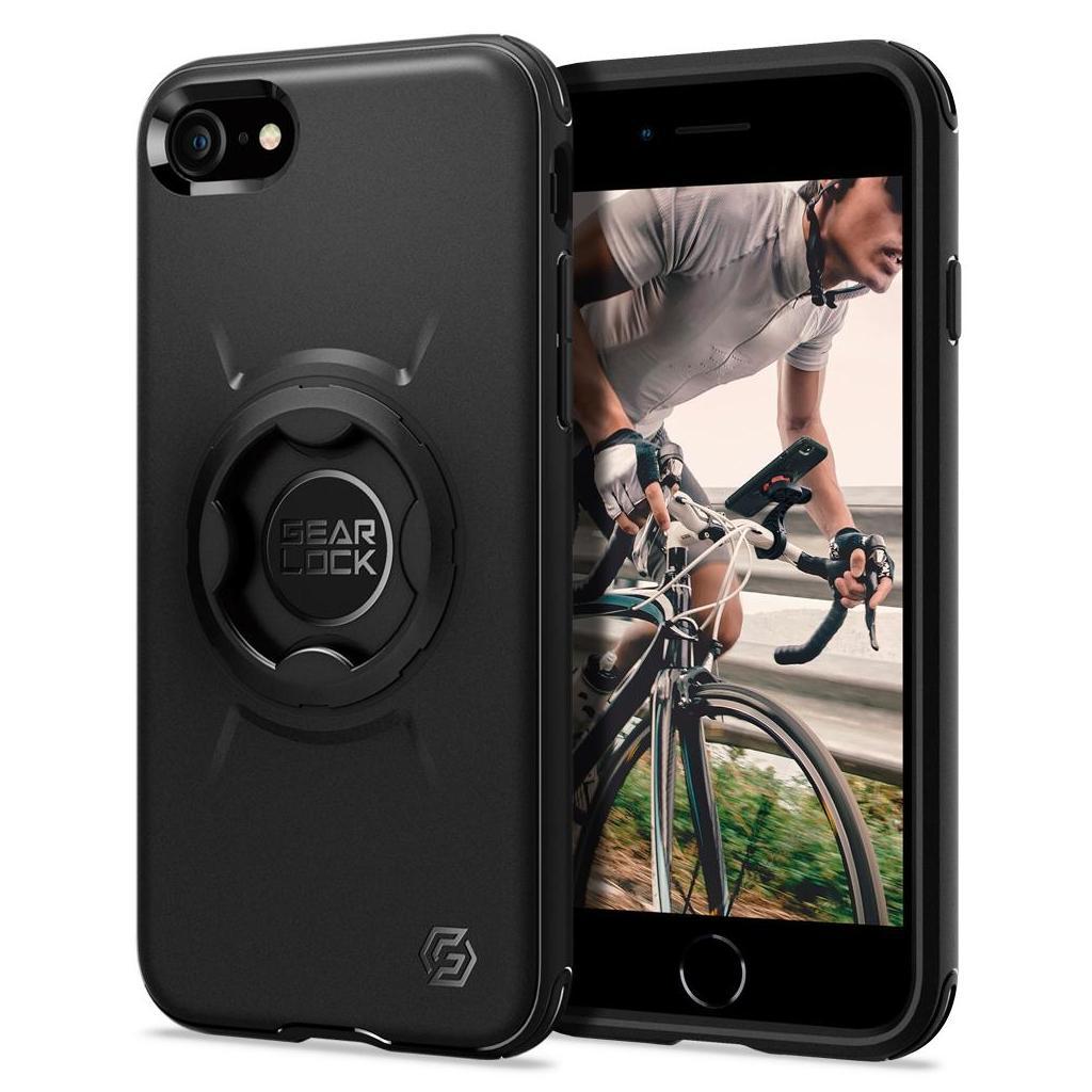 Spigen® Gearlock ACS01590 iPhone SE (2020) / 8 / 7 Bike Mount Case - Black