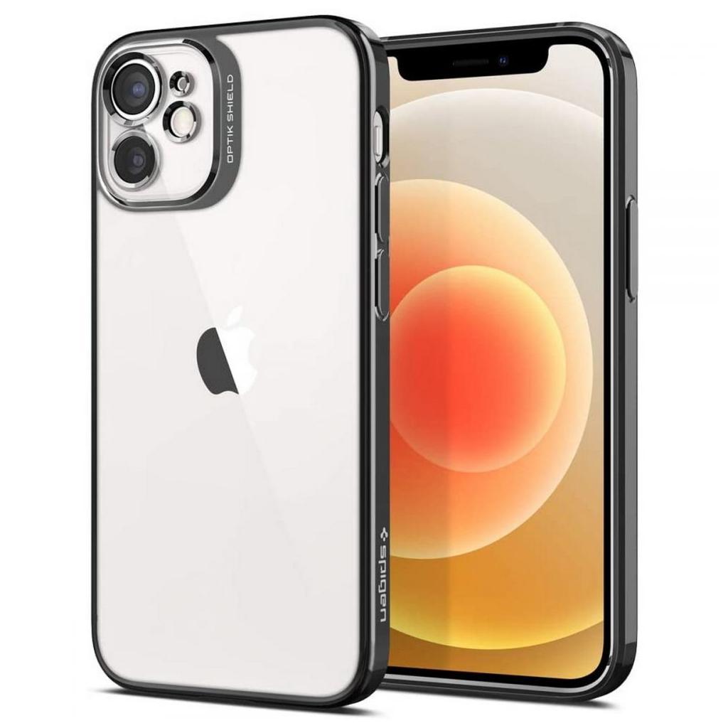 Spigen® Optik Crystal™ ACS02103 iPhone 12 Mini Case – Chrome Gray