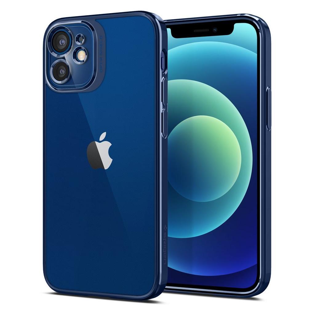 Spigen® Optik Crystal™ ACS02755 iPhone 12 Mini Case – Chrome Blue