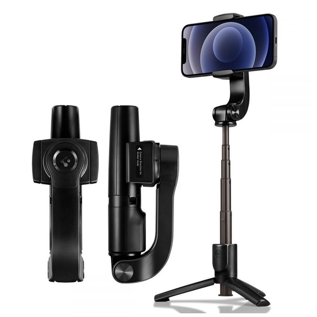 Spigen® S610W AMP01862 Gimbal Wireless Selfie Stick - Black