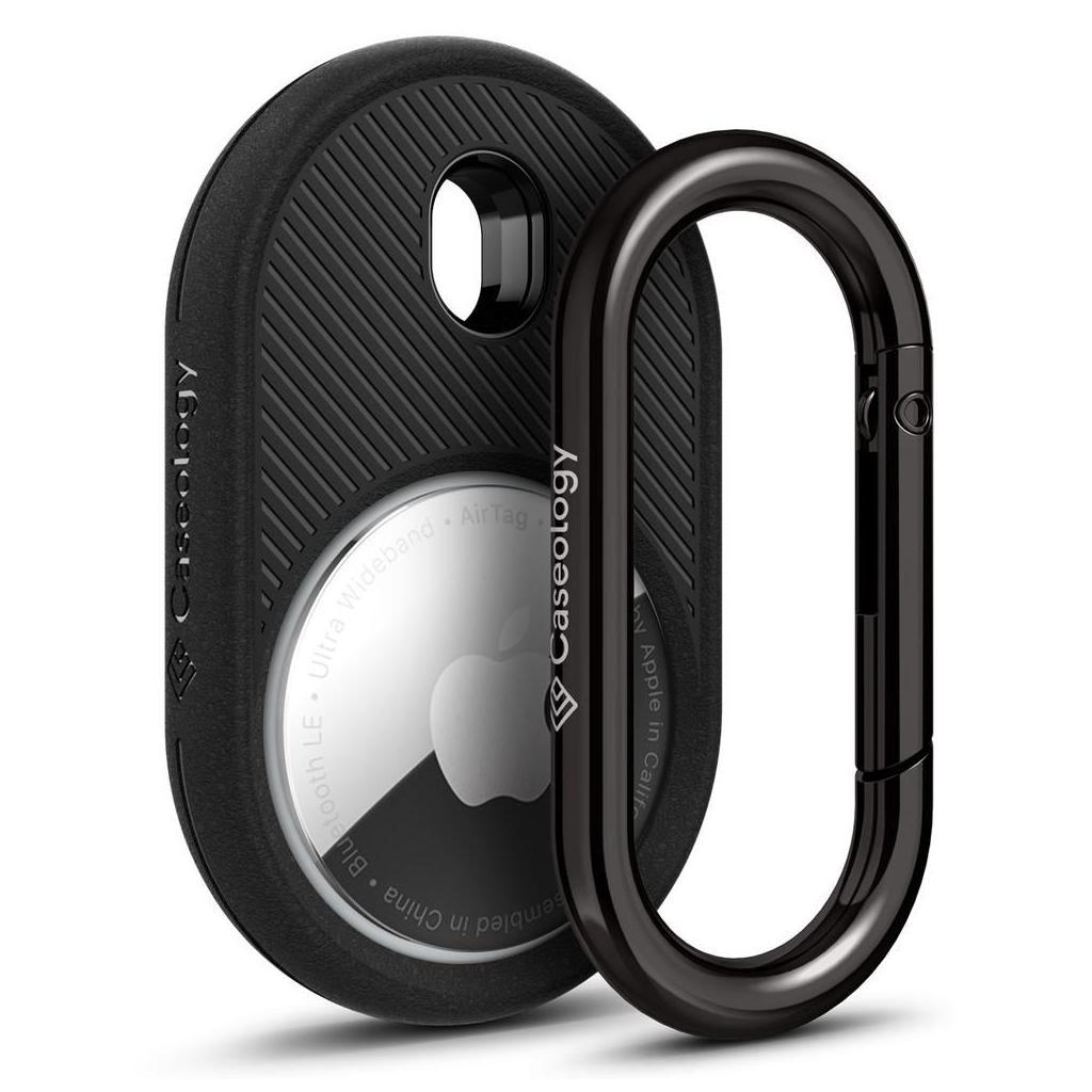 Caseology by Spigen® Vault AMP01439 Apple AirTag Case - Matte Black