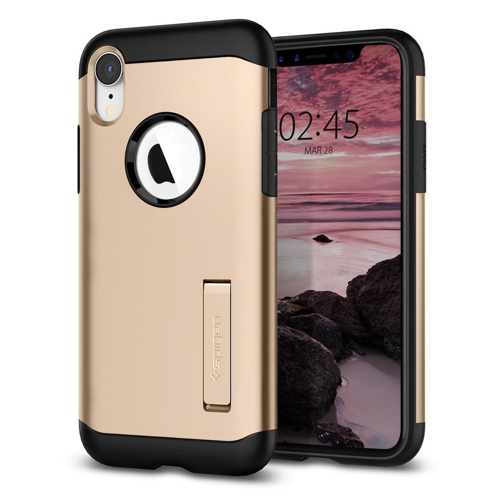 Spigen® Slim Armor™ 064CS25144 iPhone XR Case – Champagne Gold