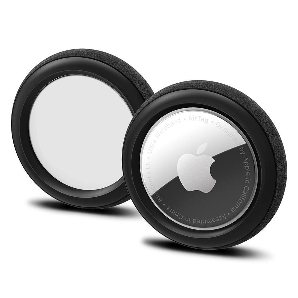 Spigen® (x2.Pack) Silicone Fit™ AHP03070 Apple AirTag Case - Black