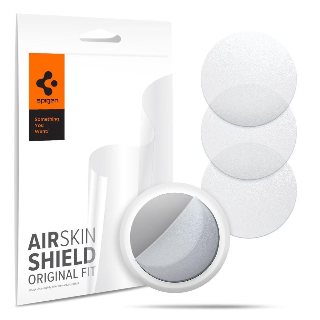 Spigen® (x4Pack) AirSkin Shield AFL03151 Apple AirTag Protective Film Hydrogel Foil - Matte Clear