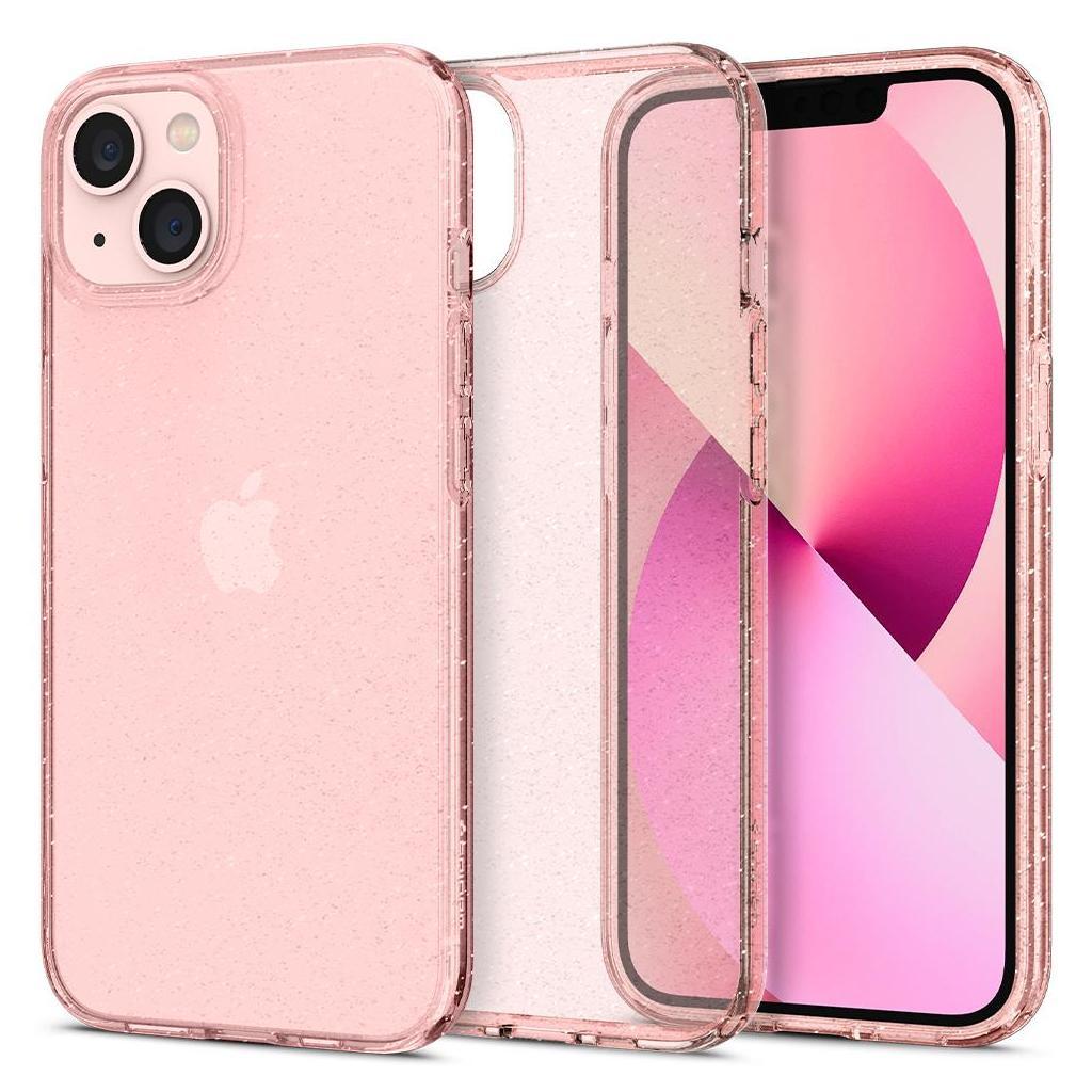 Spigen® Liquid Crystal™ Glitter ACS03313 iPhone 13 Mini Case - Rose Quartz