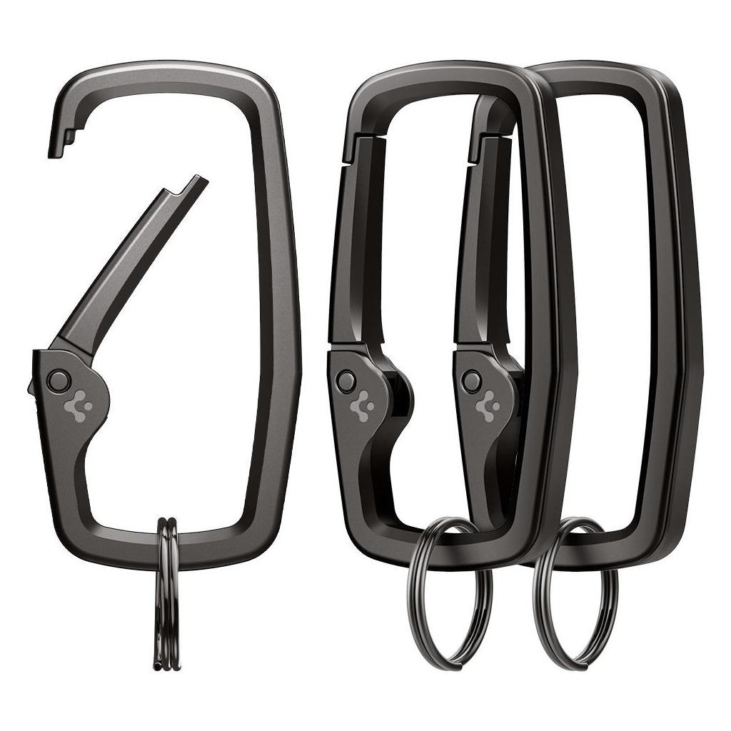Spigen® (x3.Pack) Carabiner AHP02933 Rugged Type - Black