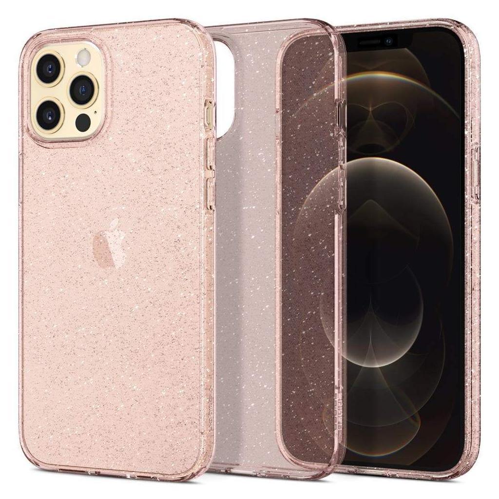 Spigen® Liquid Crystal™ Glitter ACS01615 iPhone 12 Pro Max Case - Rose Quartz