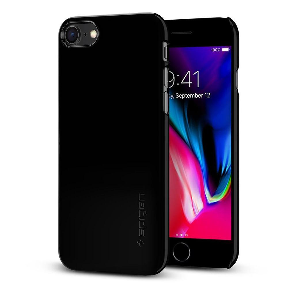 Spigen® Thin Fit™ 054CS22210 iPhone SE (2020) / 8 Case – Jet Black