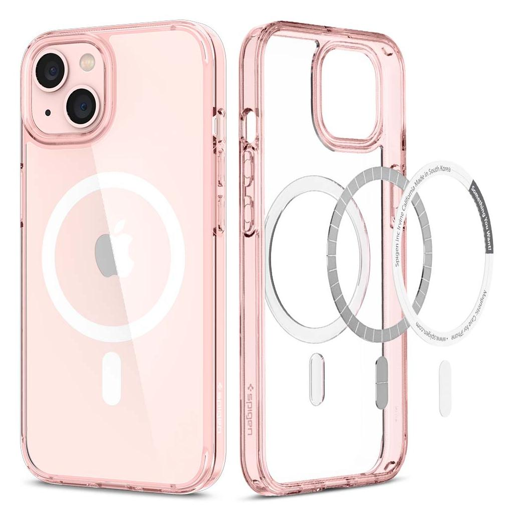 Spigen® Ultra Hybrid™ MagSafe ACS03530 iPhone 13 Case - Rose Crystal